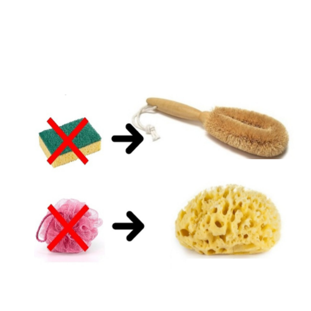 Replace the sponges from your bathroom and kitchen by biodegradable ones