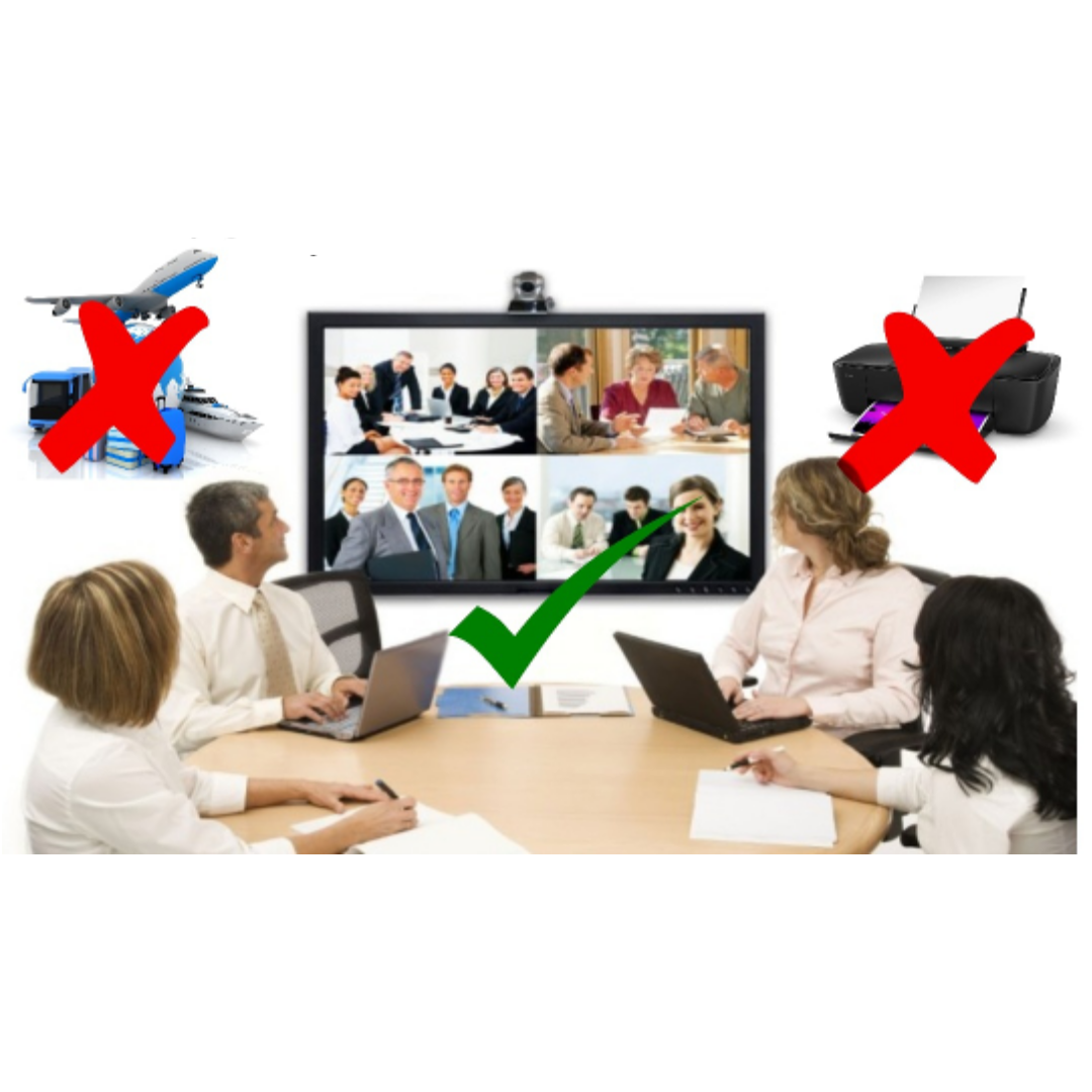 Try to reduce business travel. Instead, organise video or telephone conferences