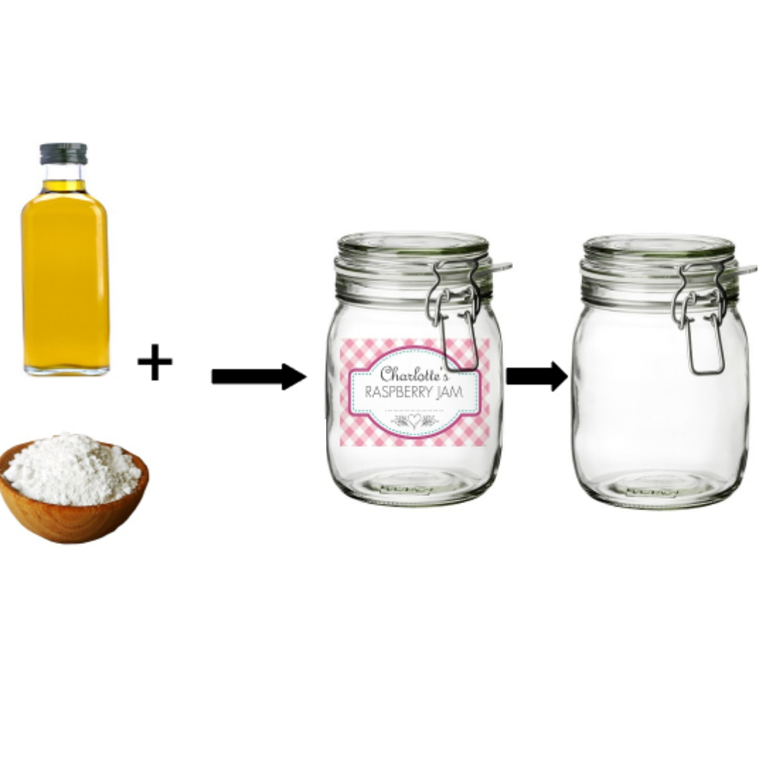 Reuse your jars by removing the labels with this simple tip