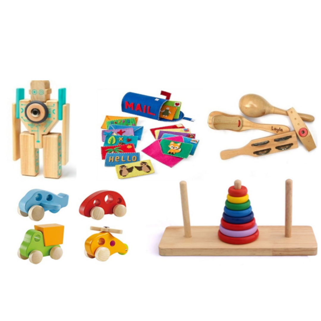 Offer wooden gifts to kids instead of plastic toys