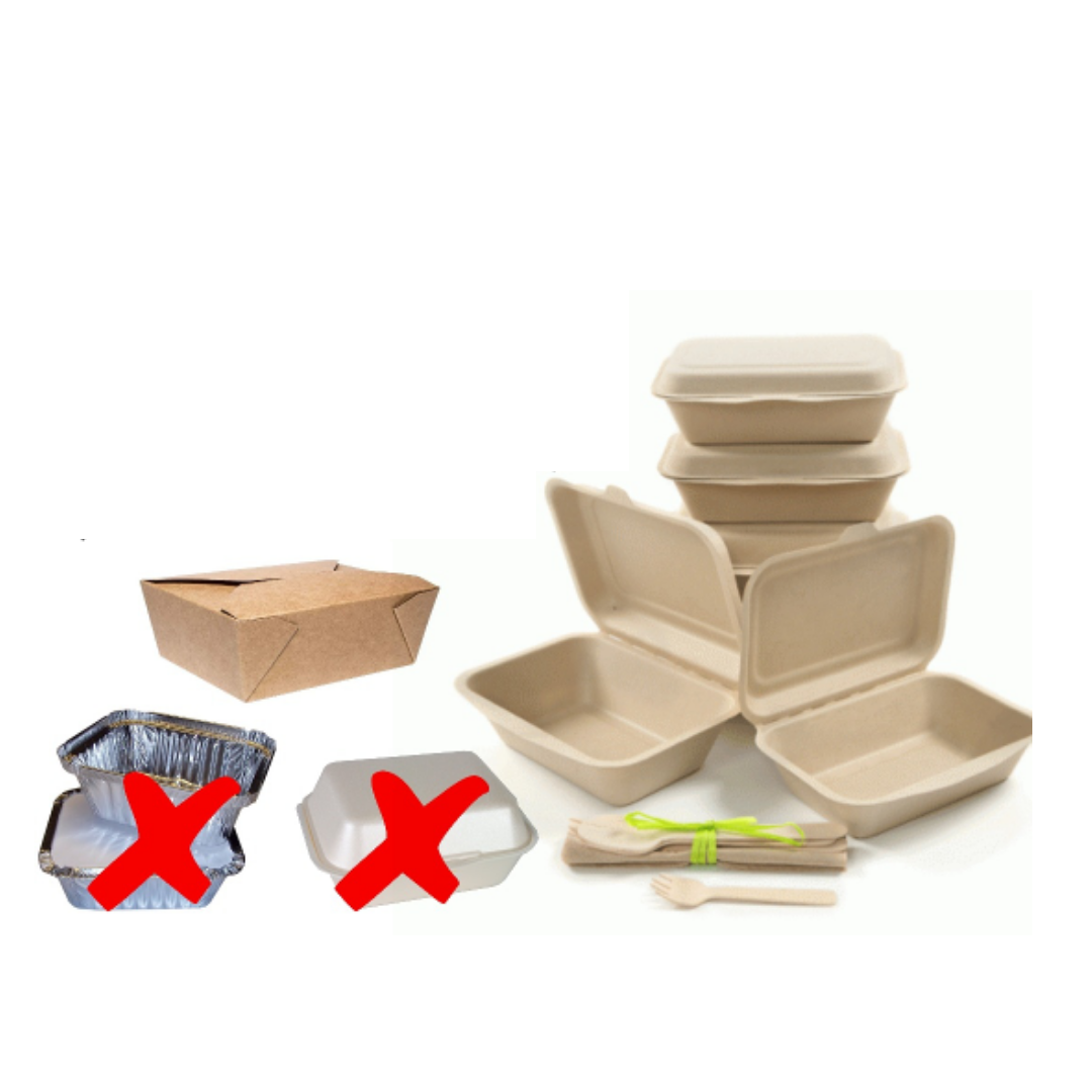 Avoid food waste by using a doggy bag for leftovers