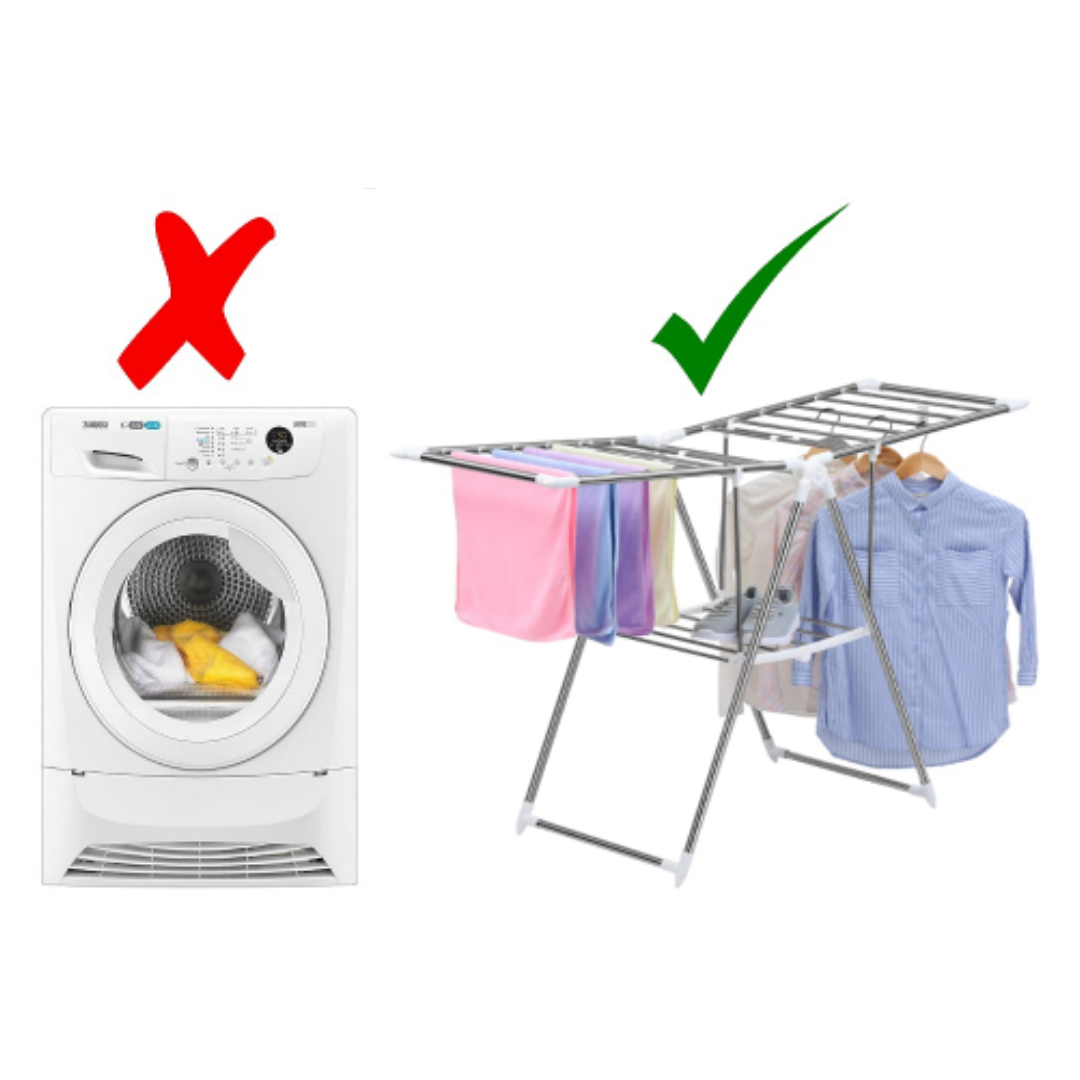 Hang your clothes instead of using a tumble dryer