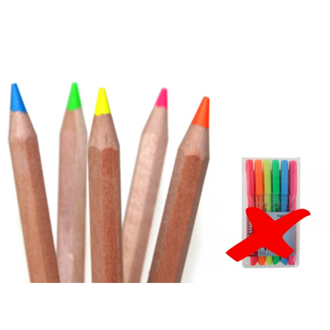 Switch to eco highlighter pencils instead of traditional ones