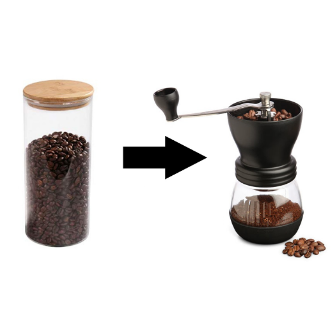 Buy your coffee beans in bulk and grind them at home