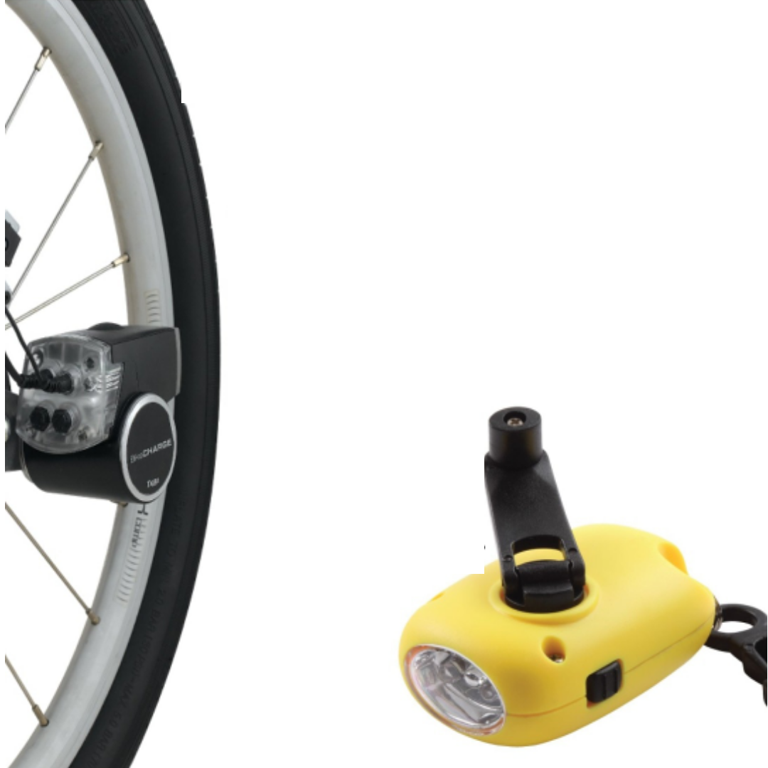Use a dynamo generator for your torch or bicycle light