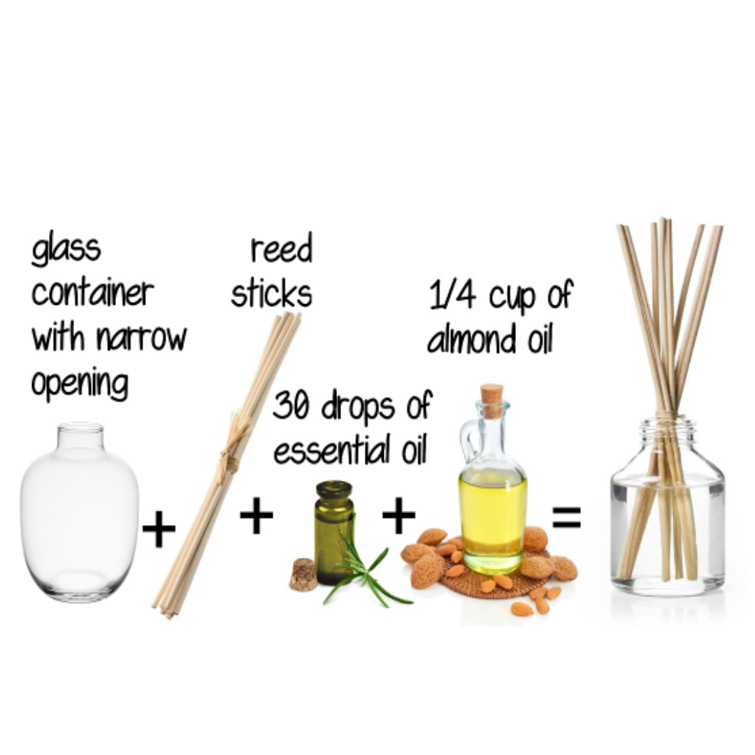 Make your own natural reed diffuser instead of air fresheners