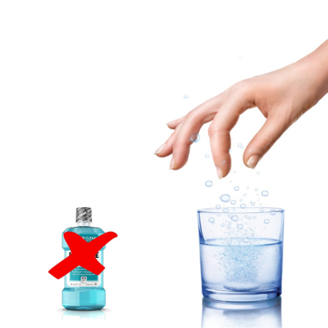 Use mouthwash in tablets and avoid the plastic bottle!