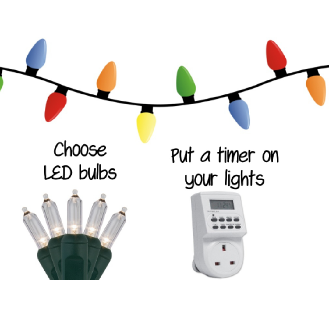 Save energy on your Christmas lights