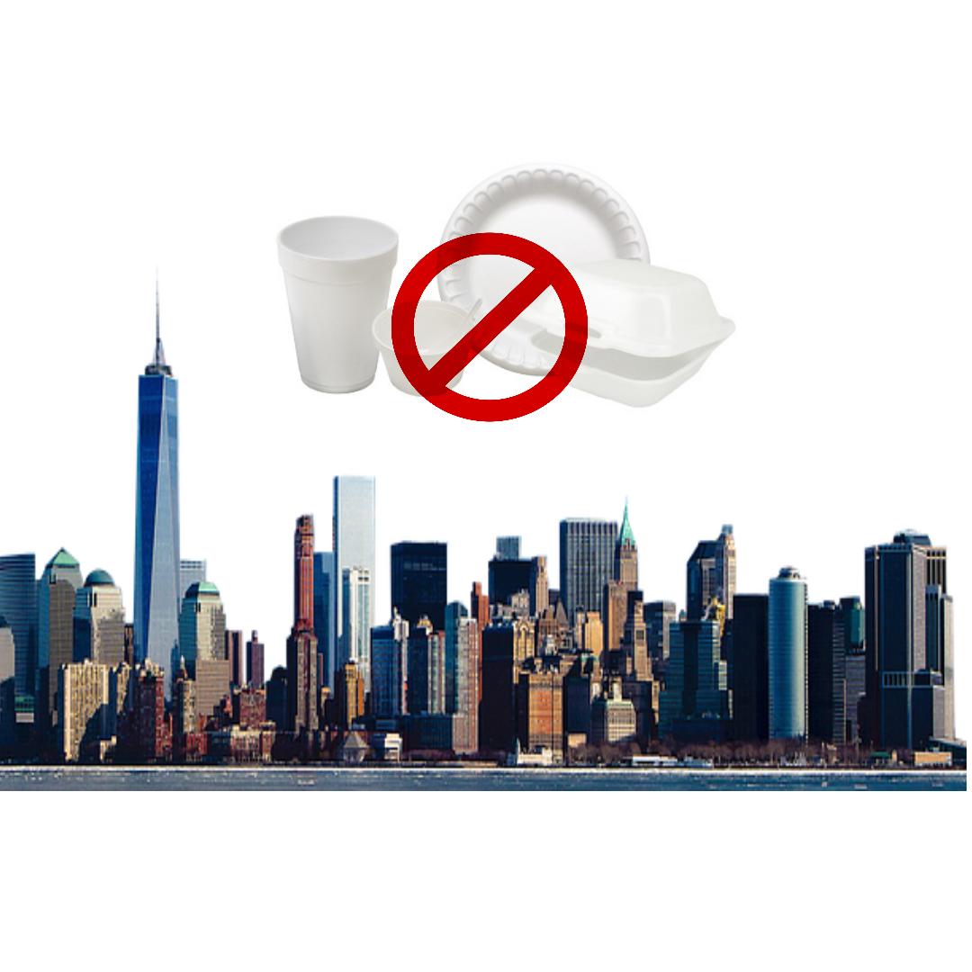 New York City has banned single-use styrofoam products