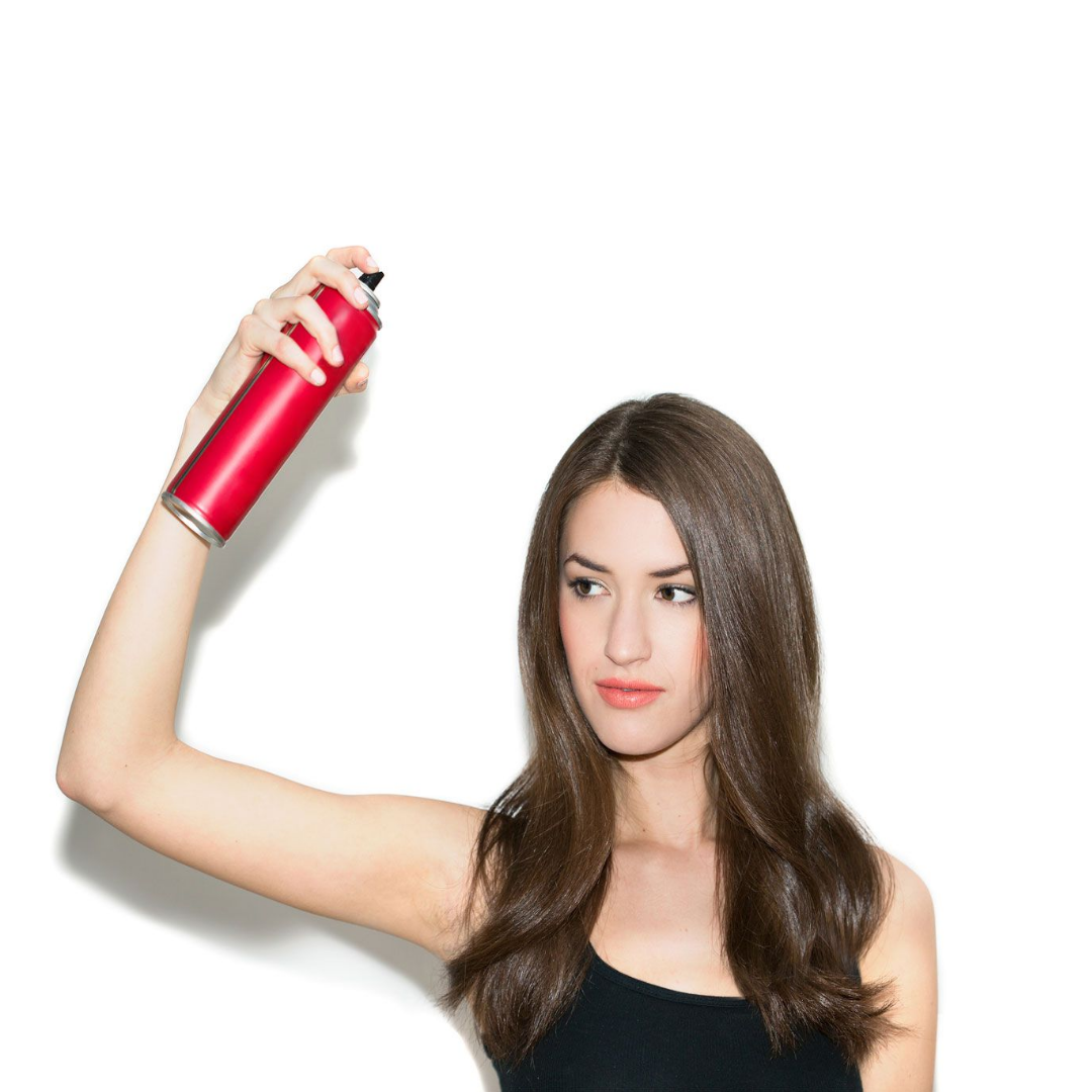 Use gas-free hairspray with natural ingredients