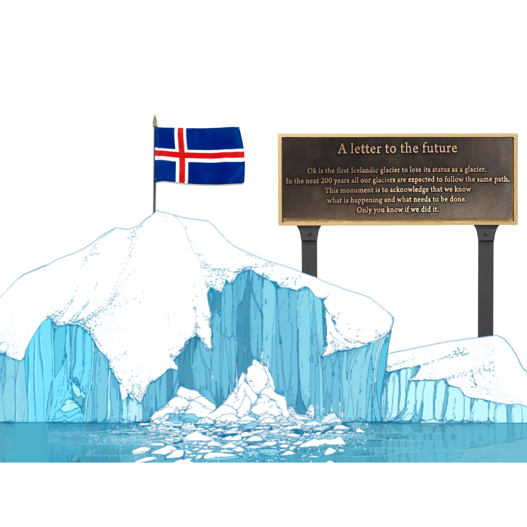 Iceland creates a memorial for the first glacier to disappear