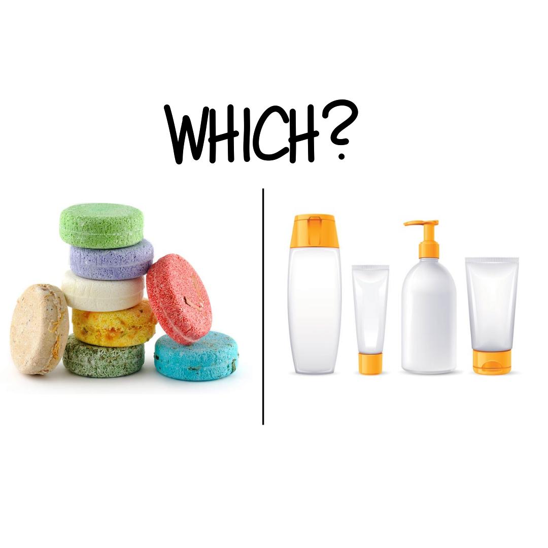 Shampoo bar vs. Shampoo bottle