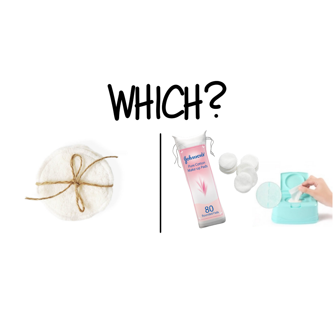 Reusable makeup remover pads vs. Disposable pads or wipes