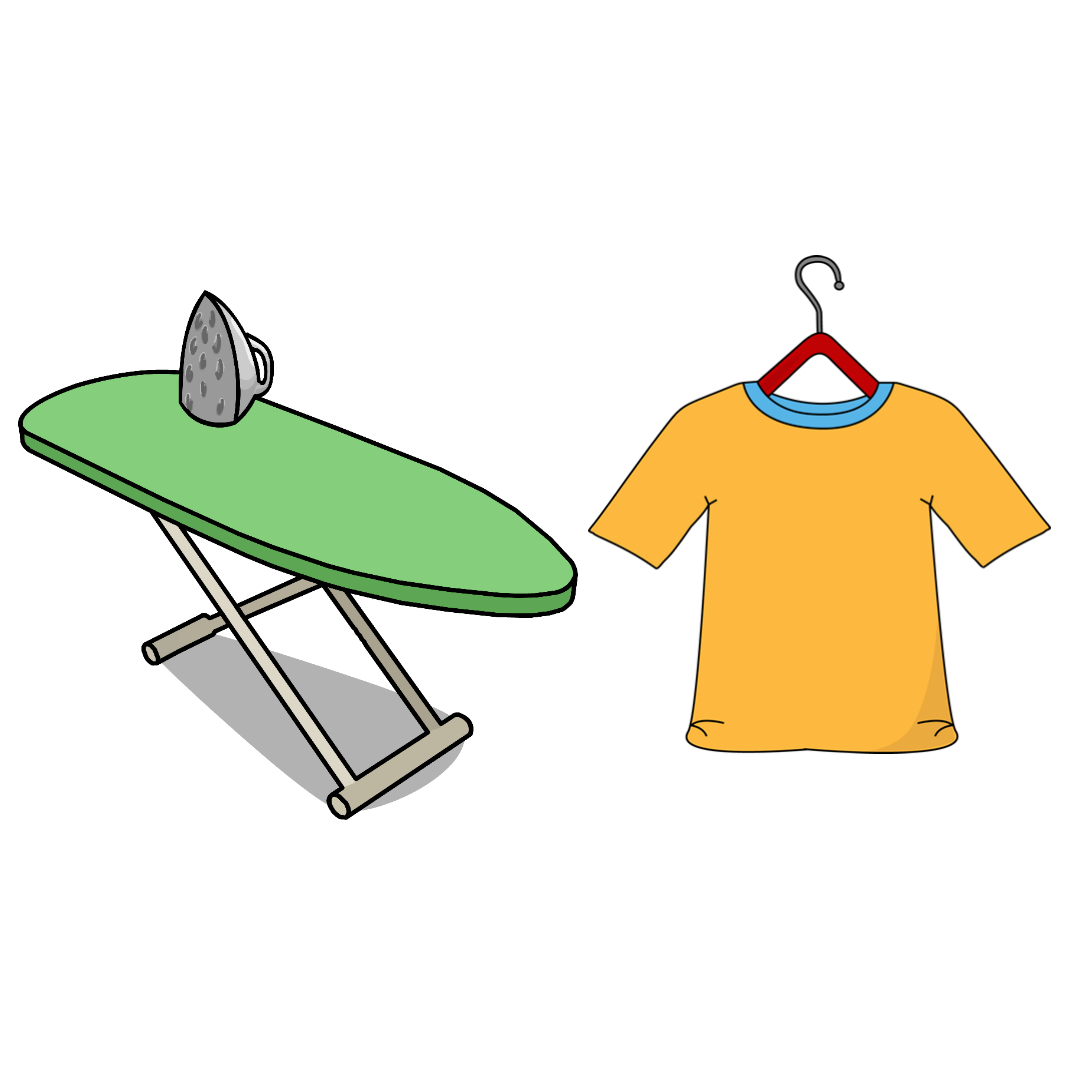 Hang your clothes in the bathroom while on the shower and avoid ironing