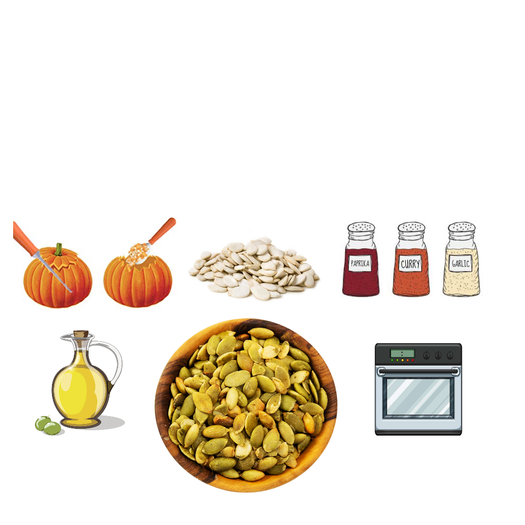 Roast your pumpkin seeds for a delicious snack