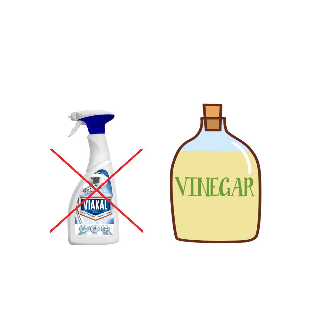 Remove limescale with vinegar