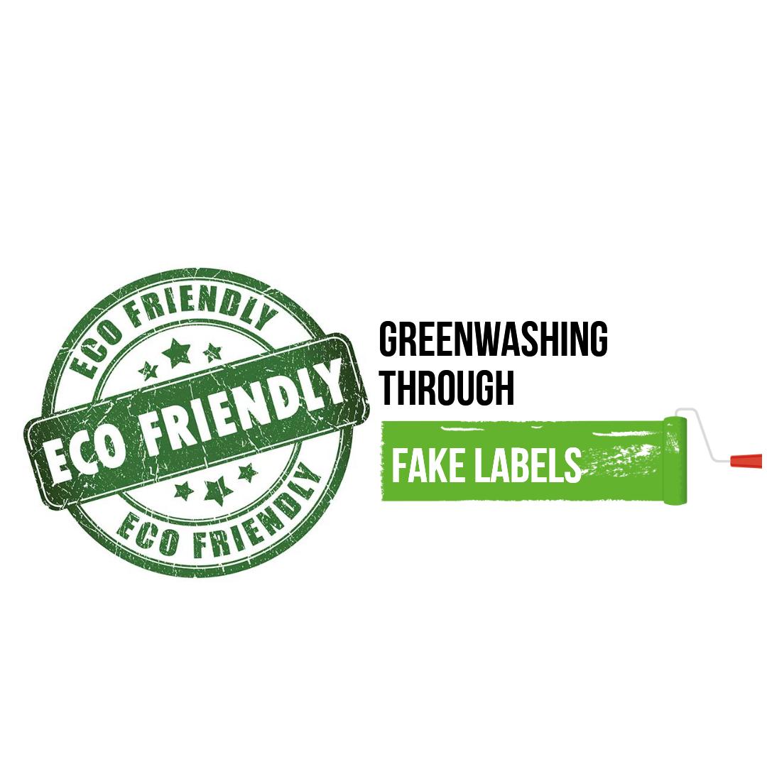 Greenwashing through fake labels
