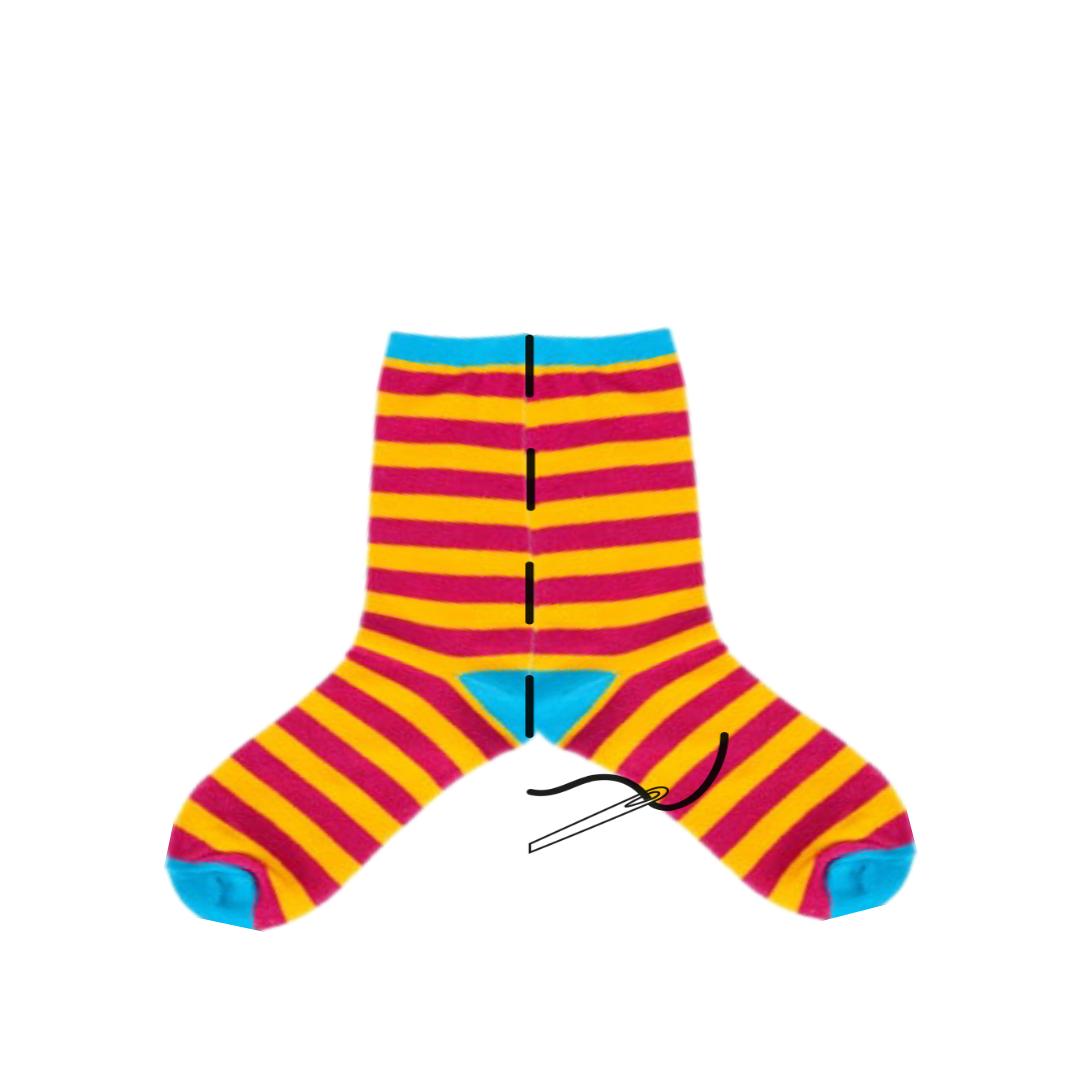 Convierte tus calcetines en mallas para bebés