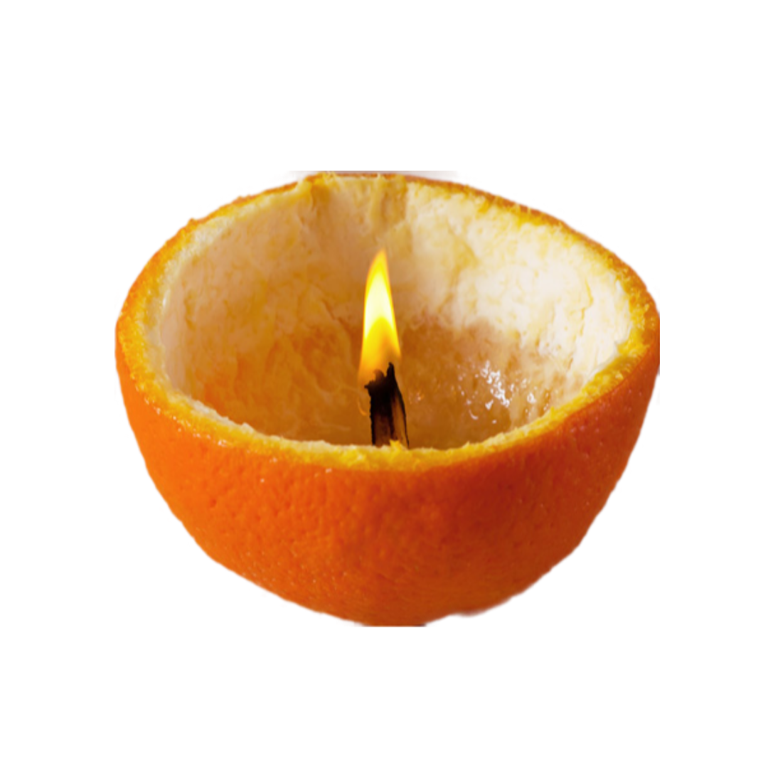 Make your own natural candle with orange peel