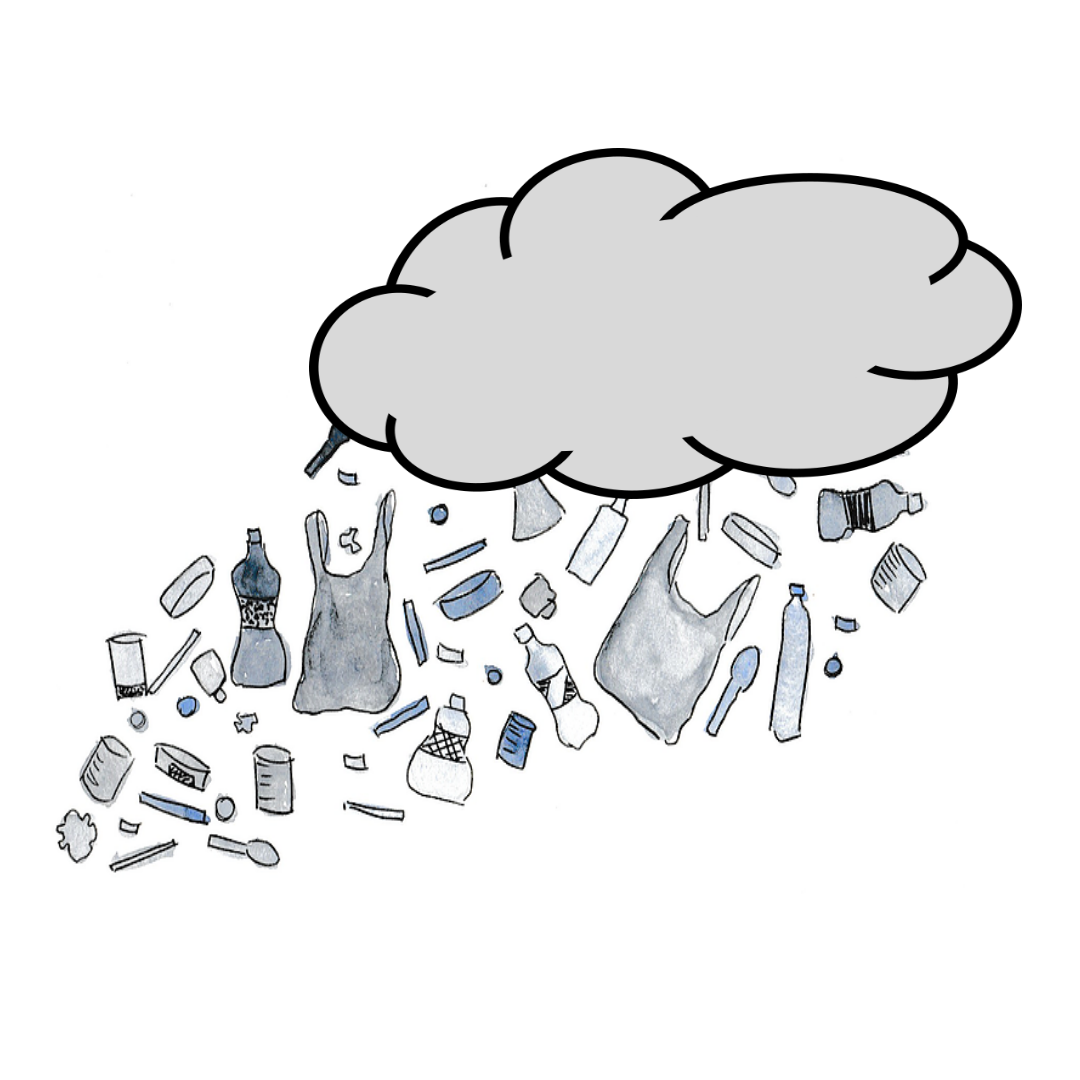 It is rainning plastic