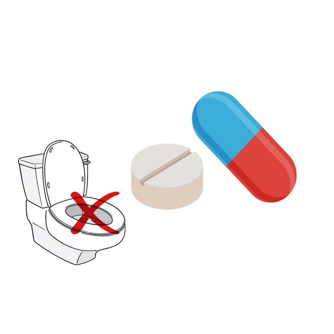 Do not flush your old medication down the toilet