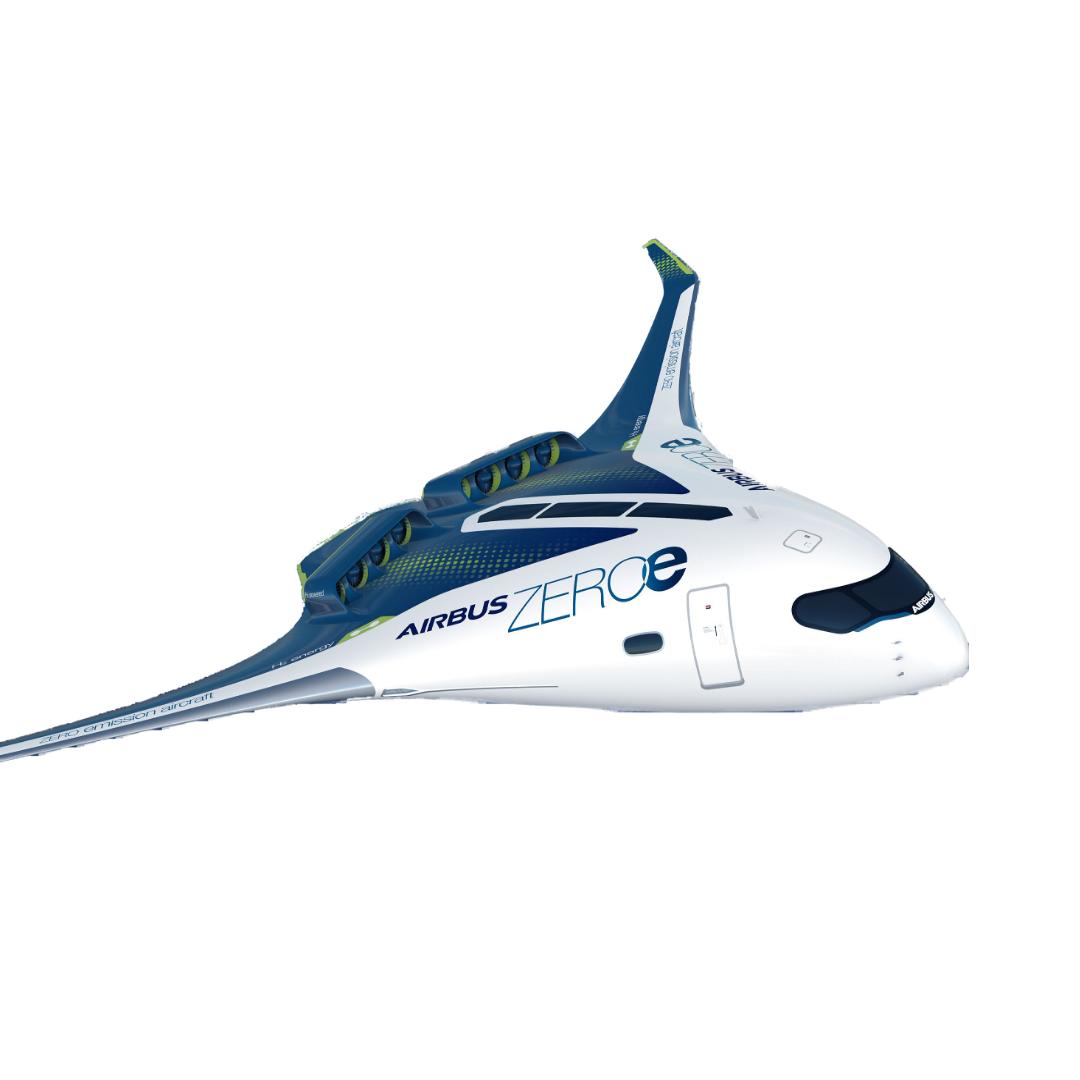 Airbus presentó un prototipo de un avión de cero emisiones