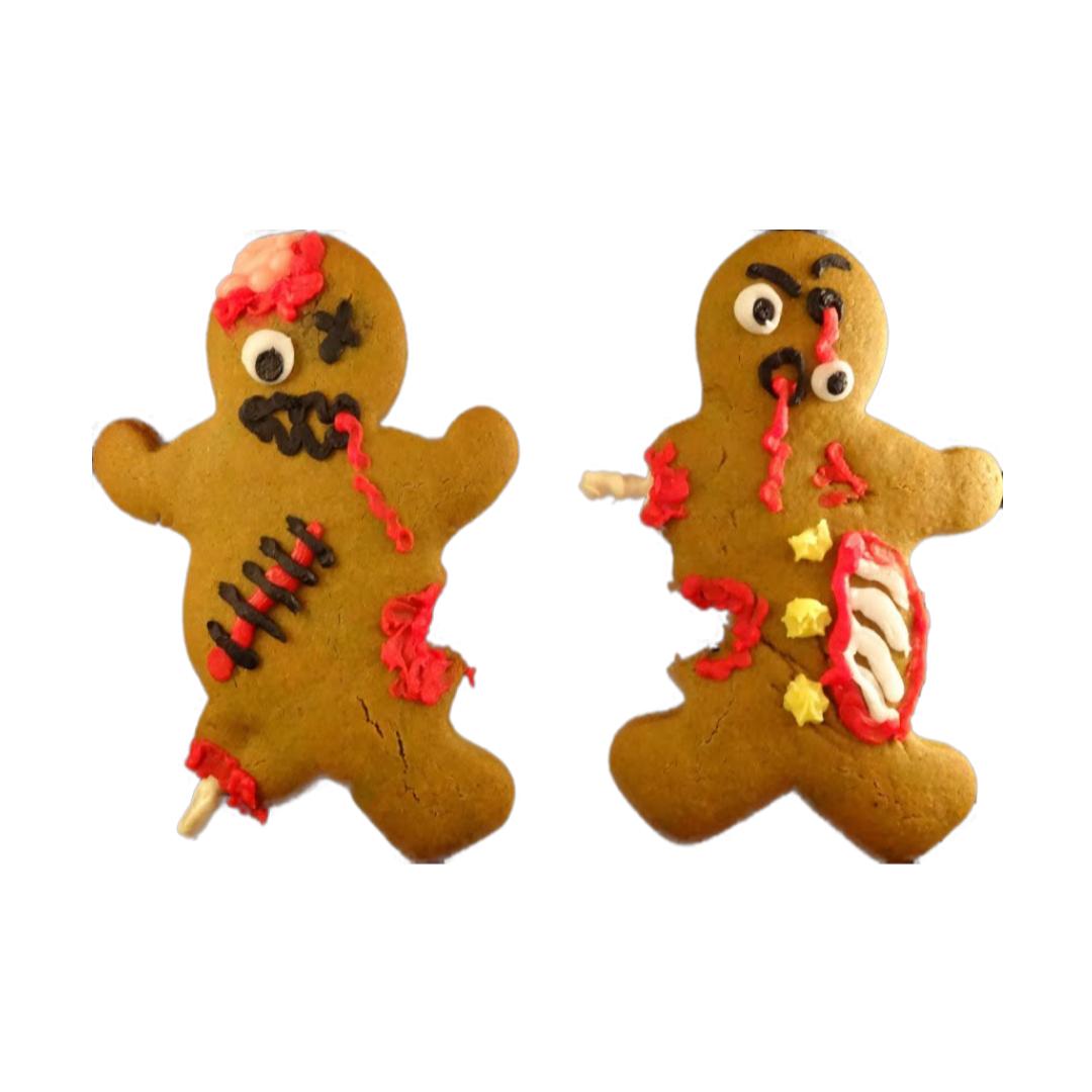 Cómo hacer zombies de pan de jengibre para Halloween