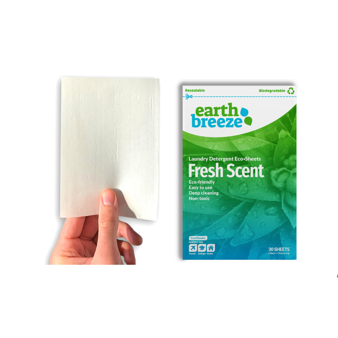 Replace laundry detergent with these eco strips from Earth Breeze